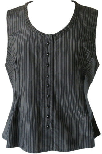 Krista Larson Black Striped Silk Taffeta Girly Cam
