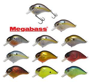 Megabass-S-Crank-1-2-Crankbait-Shallow-Plongee-Square-Bill-Bass-Fishing-Lure