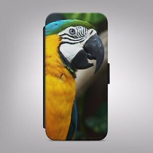 neues Hoch bestbewerteter Beamter bezahlbarer Preis Macaw Parrot Colourful Amazing LEATHER FLIP PHONE CASE COVER ...
