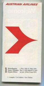 AUSTRIAN-AIRLINES-WINTER-TIMETABLE-1978-79-1ST-EDITION