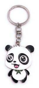 Oso-Panda-Babypanda-Llavero-Colgante-Plata-de-Metal
