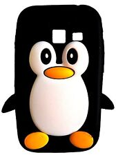 Black Silicone Penguin Phone Case / Cover for Samsung Galaxy Ace Duos S6802