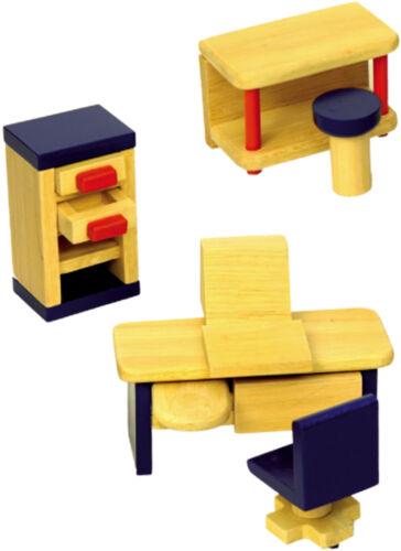 """Arredamento in  legno per casa delle bambole /""""L/'ufficio/"""""""
