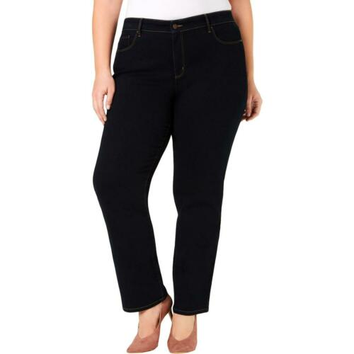 Charter Club Womens Lexington Denim Dark Wash Straight Leg Jeans Plus BHFO 4483