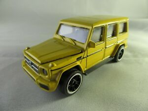 1020-Majorette-Massstab-1-61-Mercedes-G-Modell-Gelaendewagen-gelb-Neu
