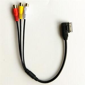 For-VW-For-Audi-AMI-A3-A4-A6-A7-A8-Q5-Q7-R8-MMI-RCA-Video-Audio-Input-AUX-Cable