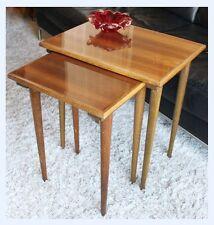 Vintage Danish Teak Mid-century Nest of 2 Side Tables