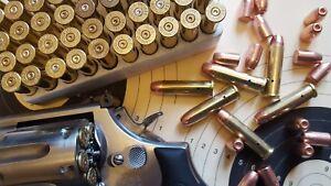 Deko-Patrone-12-Stuck-fur-Kaliber-357-Magnum-Orginal-Hulse-und-Geschoss