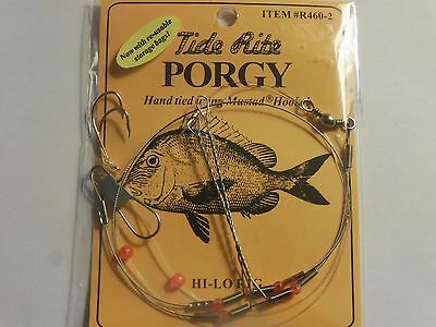 12 PORGY RIGS SCUP TIDE RITE R461-8 BEADED HI-LO RIG SALTWATER  FISHING MUSTAD