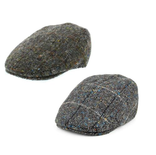 Failsworth Oslo Magee tweed laine Flat Cap avec oreilles 2 Couleurs Taille