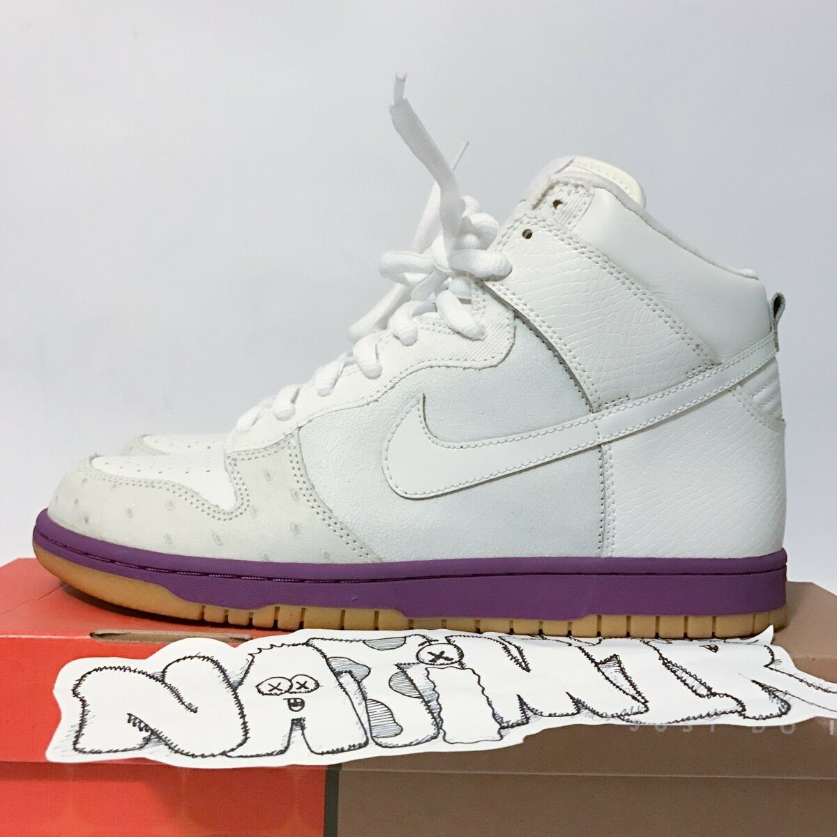 2005 Nike Supreme Dunk High Deluxe MITA OSTRICH WHITE ATMOS Japan High top HUF