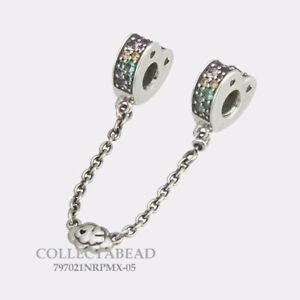 Authentic-Pandora-Silver-Arcs-of-Love-Multi-Color-CZ-Safety-Chain-797021NRPMX-05