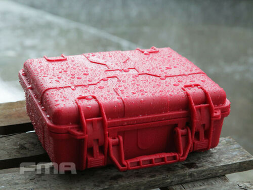 FMA Tactical Plastic Case Outdoor Travel Portable Sealing Storage Box Red