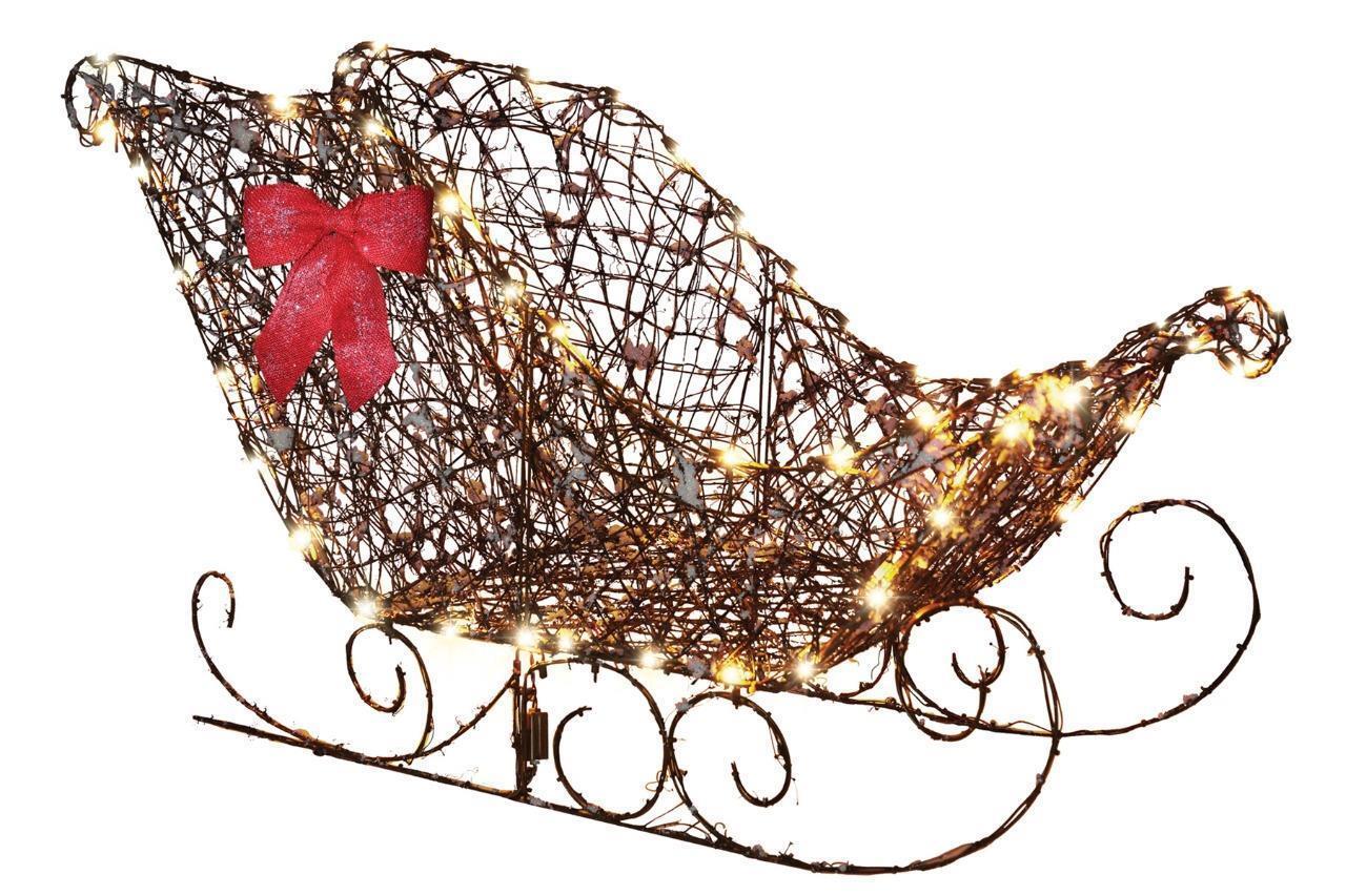122cm Led Prelit Beleuchtet Weinrebe Schlitten Outdoor Weihnachten Hof