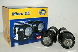 Hella Universal Micro De Black Fog Light Set 1nl008090 821 Ebay