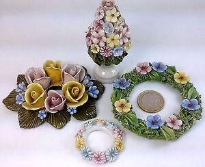 Bomboniere Matrimonio Fiori.Bouquet Bomboniere Fiori Matrimonio Ceramica Mazzolini Rose Set