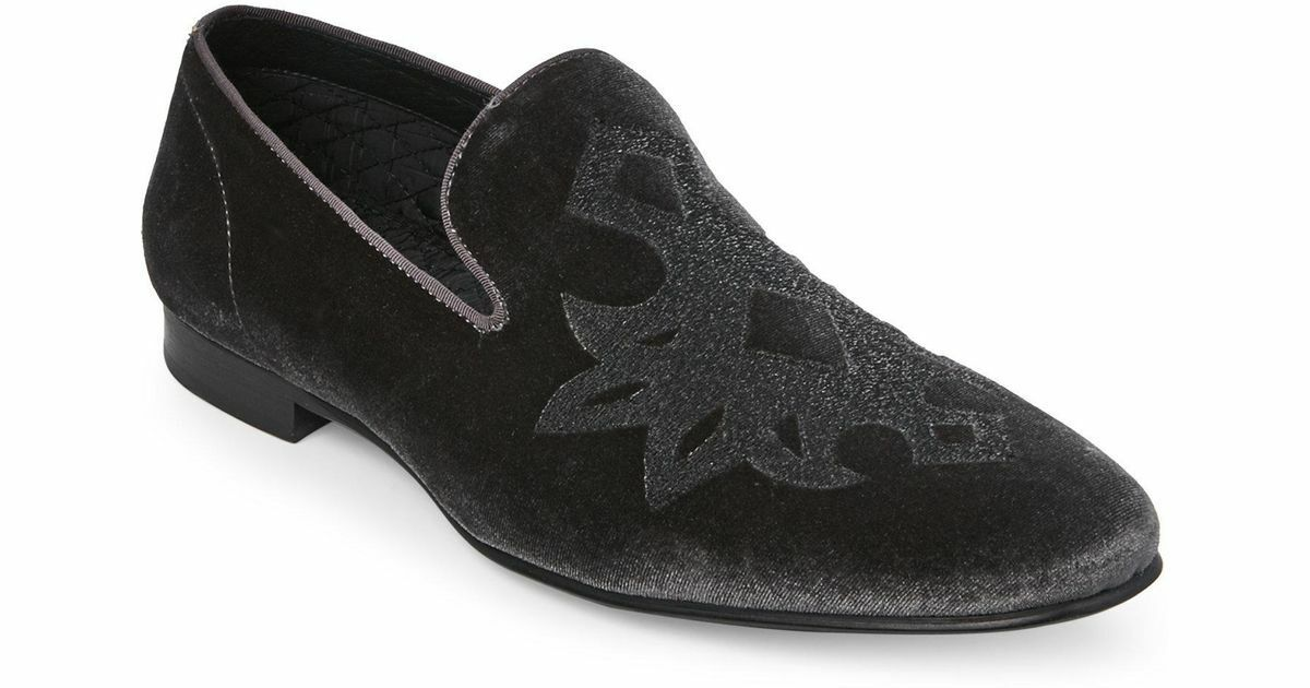 Steve Madden Men's Lorax (Black Velvet) Loafers