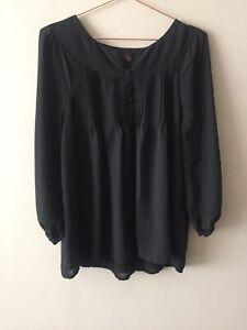 Stoosh Juniors/' Long-Sleeve Lace-Inset Peasant Blouse