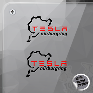 PEGATINA NURBURGRING TESLA VINYL DECAL VINYL STICKER AUTOCOLLANT