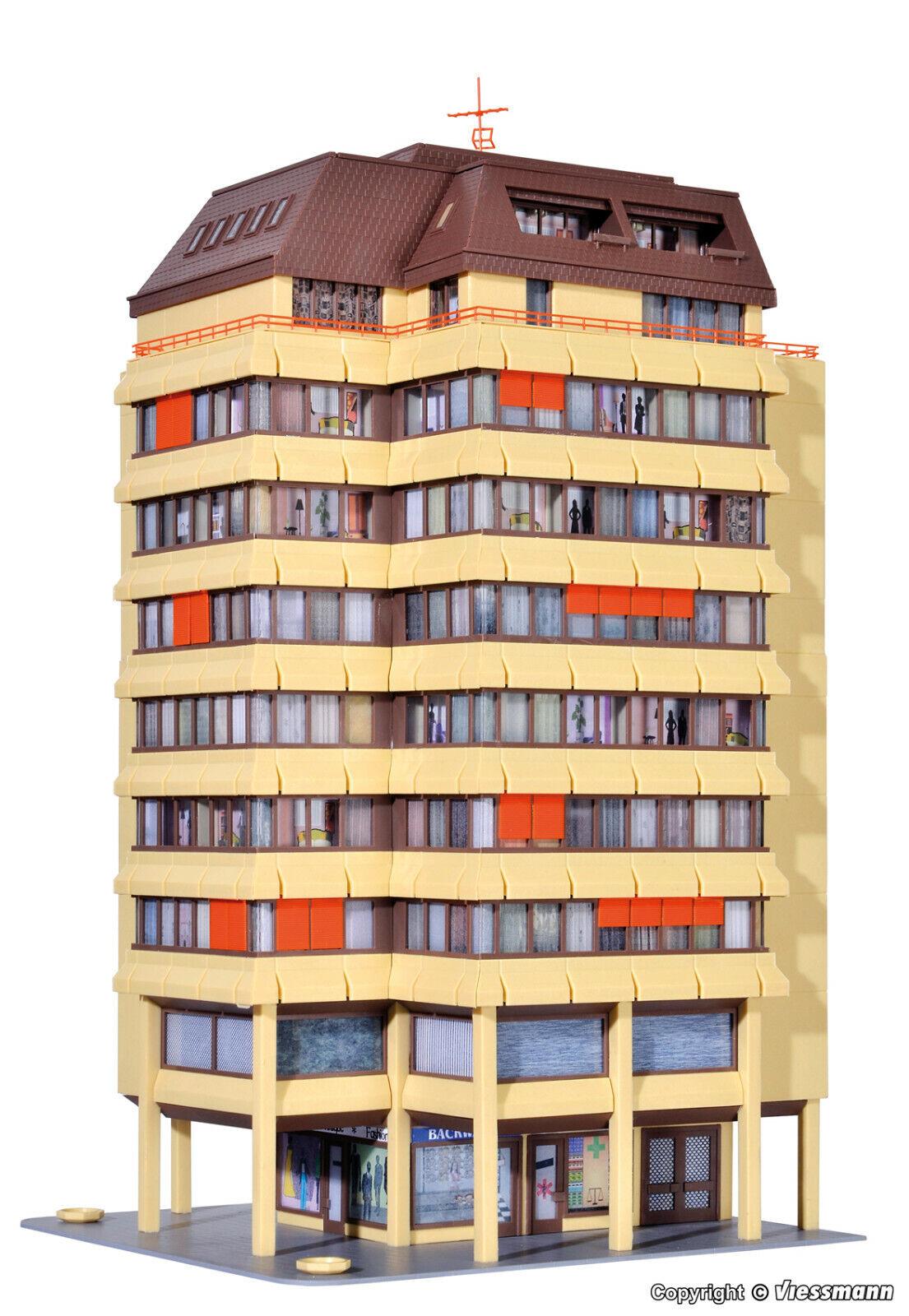 Kibri H0  38218  Hochhaus mit Ladenpassage und Penthauswohnung inkl  NEU OVP