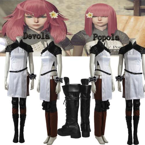 New NieR:Automata Female Twins Popola Cosplay Devola Cosplay Costume Halloween