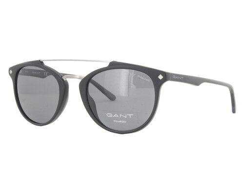 2812922788 GANT Ga7087 02d Matte Black   Smoke Sunglasses