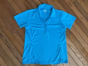 EP-Pro-Tour-Tech-Women-039-s-Teal-Golf-Polo-Shirt-Blouse-Top-Size-M