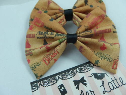 Animated Titles Vintage Look Disney Fabric Handmade Hair Bow