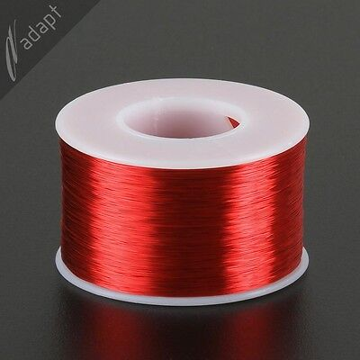 29 AWG Gauge Magnet Wire Red 1250/' 155C Solderable Enameled Copper Coil Winding