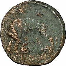 "Constantine I The Great Ancient Roman Coin Romulus & Remus ""Mother"" wolf  i35436"