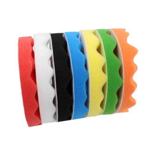 "Car Polisher Soft Wave Foam Waffle Pad Buffing Sponge Pads 6/"" inch 150mm"