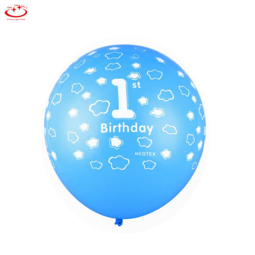 10pcs Boy Girl Baby Party Number 1 Balloons Printed 1st First Birthday Decor New