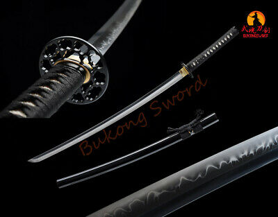 MENACING SAMURAI SWORD KATANA 4KM124-430BK HISTORICAL SWORD