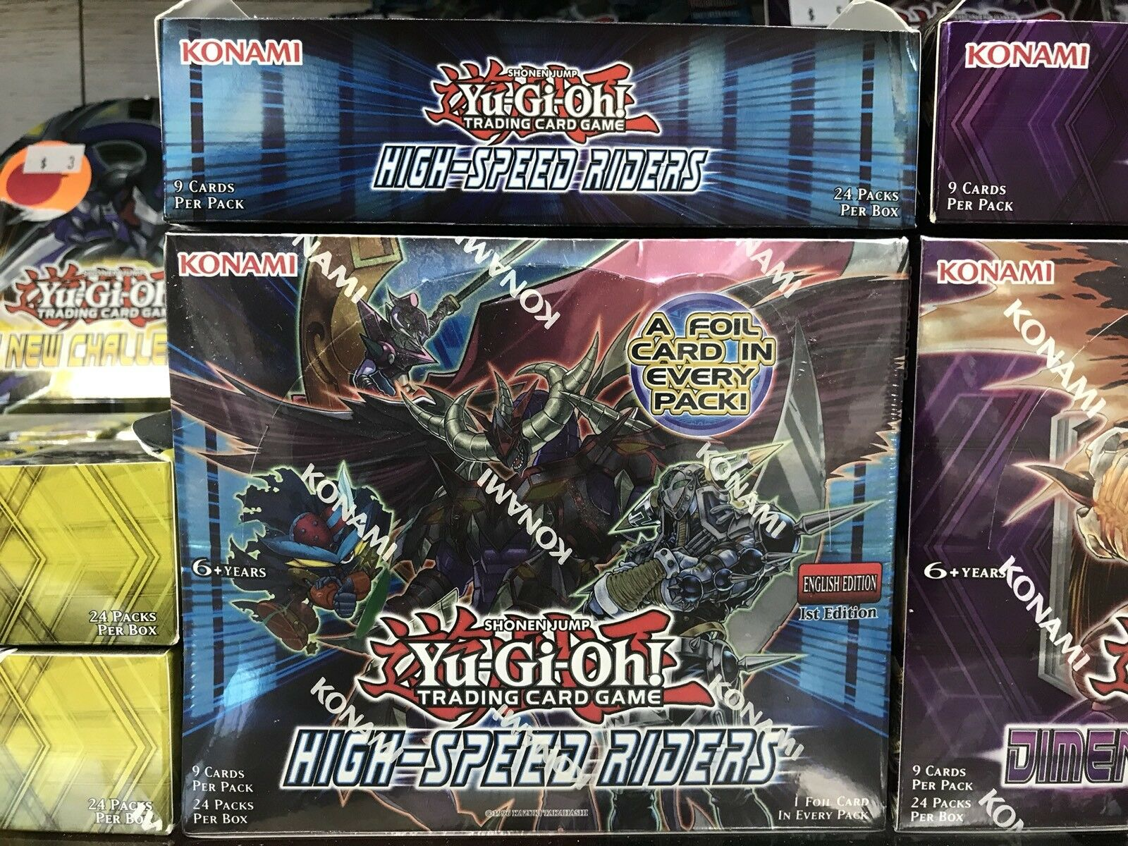 Yu-Gi-Oh High Speed Riders 1st Edition Booster Box Konami Factory Sealed Shohen