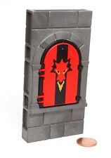 Playmobil Rock Castle System X Wall Red Dragon Arched Window Shutter 3269 5757