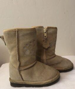fd900de5db75f Image is loading Sale-Baby-Gap-Girls-Leather-Boots-Tan-Fur-