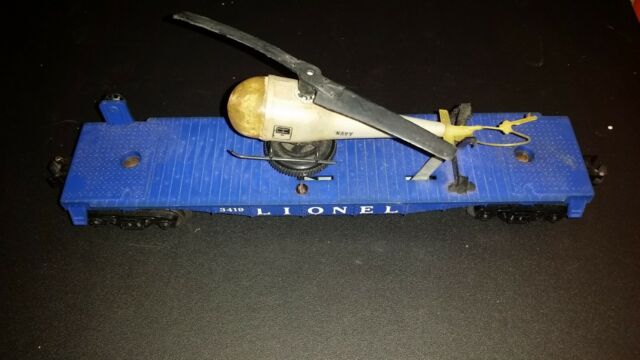 Lionel Operating Helicopter Car with Helicopter #3419 O Scale