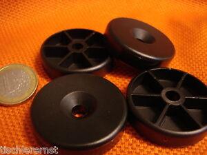 20-piezas-PATA-DE-APARATO-Pies-zocalo-40-x-10mm-BRILLO-plastico-negro-Rendondo