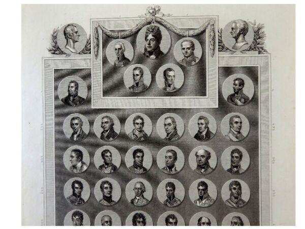 1 Original-aquatinta Bowyer 1815 Mit 46 Porträts D Briten Und Ihrer Verbündeten HeißEr Verkauf 50-70% Rabatt