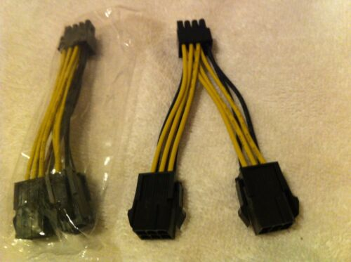 2X  NEW NVIDIA Dual 6 Pin Female to 8 Pin Male Video-Card Adapter Cable,ORIGINAL