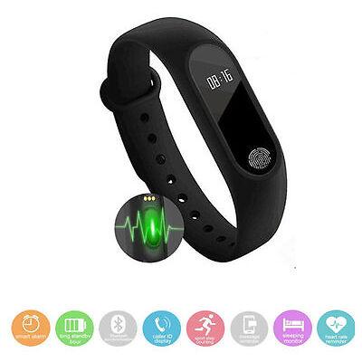 Blanco - 2017 Mi Band 2 Pulsera inteligente Bracelet Monitor de pulso cardiaco.