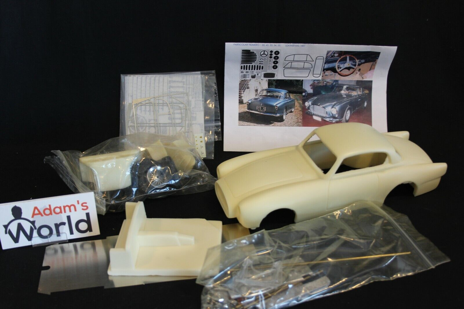 ABC Brianza unbuilt kit resin Ferrari 342 America ch. mo. 0242AL 1:18 (PJBB)