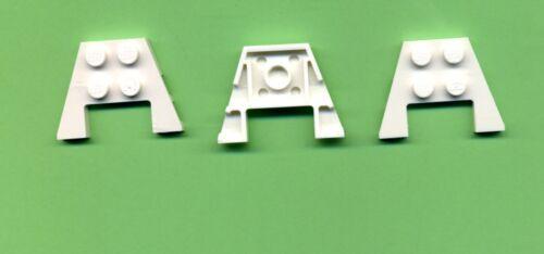 Plaque 3 x 4 LEGO 3 pièces aile Trou BLANC 48183 avec décolleté