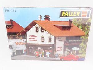 HO-Massstab-1-87-Faller-271-Mueller-Drug-Store-Gebaeude-Kit-Versiegelt