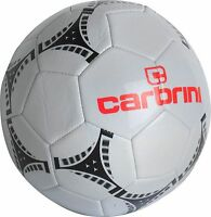 Carbrini Size 5 Football - White For Training & Matches Supplied Uninflated