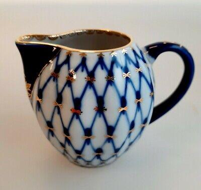 Russisches Porzellan Lomonosov Kobaltnetz Milchkännchen