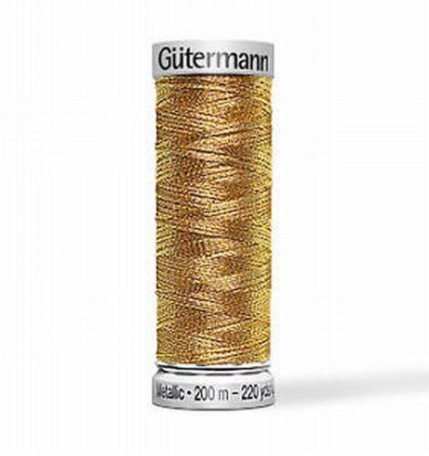 Gütermann SULKY machines Stick Fil Metallic 200 m Or//Argent