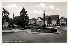 FREUDENSTADT Schwarzwald Markt Brunnen Strassen Partie