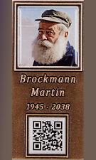 Grabschrift/QR Code/Bronze/Grablampe/Keramikfoto/Schrifttafel/Erinnerungstafel