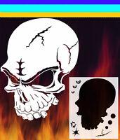 Skull 3 Airbrush Stencil Spray Vision Template Air Brush